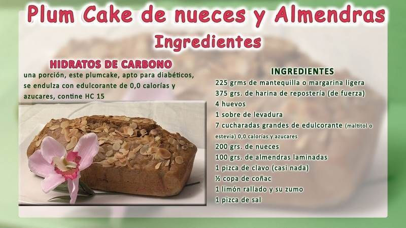 Plum Cake receta ingredientesRED_VSN